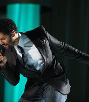 Eric Benet performing on stage