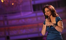 Gloria Estefan performing on stage