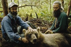Bear biologists Jack Whitman and LaVern Beier (pronounced