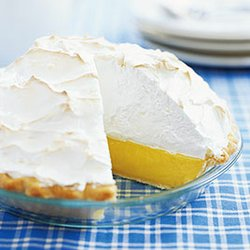 perfect lemon meringue pie with a firm, sky-high topping