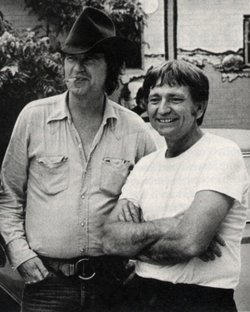 Billy Joe Shaver and Willie Nelson in the mid-70s.