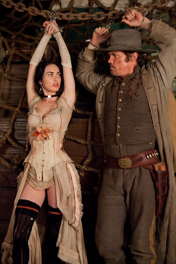 "Megan Fox and Josh Brolin in ""Jonah Hex."""
