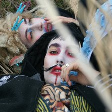 The sisters in CocoRosie show us that mustaches are not just for men, tonight...