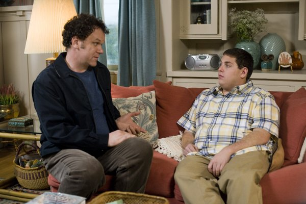 "John C. Reilly and Jonah Hill face off in ""Cyrus"""