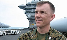 Major Justin Knox served as a captain and F-18 pilot with Marine Fighter Atta...