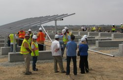 The photovoltaic system on Camp Pendleton will provide almost 1.5 mega watts ...