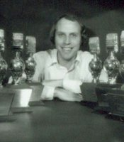 Ken Kramer with golden mic awards.