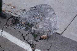 A rock approximately 4x5 feet fell off of a cliff onto Old Highway 80 near Bu...