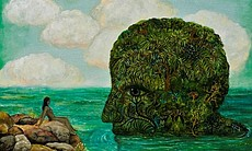 "Irene Hardwicke Olivieri's ""Head in Water."" She's just one of the artists participating in Survey Select."