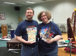 James and Kim Keeline. Authors, collectors, and organizers of the Tom Swift c...