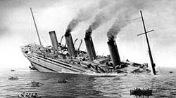 "Sinking of the ""Britannic,"" November 21, 1916"