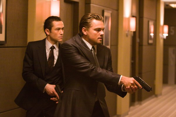 "Joseph Gordon Levitt and Leonardo DiCaprio operate in a dream world in ""Inception"""