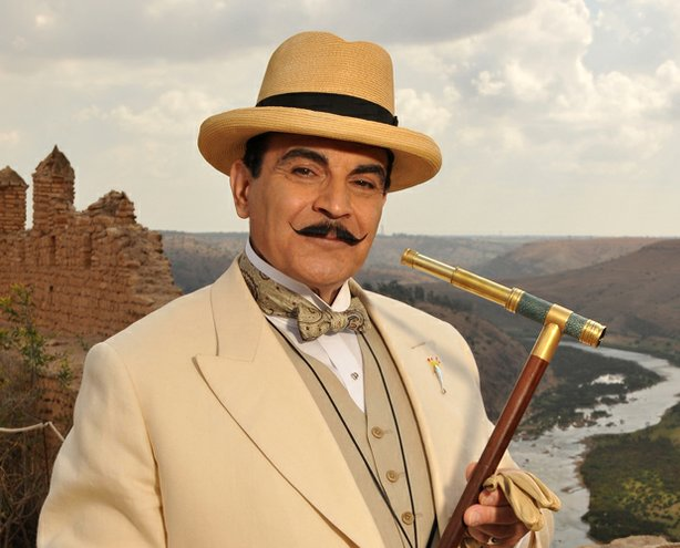 An archaeological dig is the scene of murder in the Middle East, leading Poirot (David Suchet, pictured) to unravel a tragic tale of twisted family secrets.