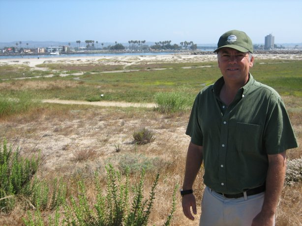 Rob Hutsel is the executive director of the San Diego River Park Foundation, which is involved in helping to protect the coastal dune habitat in Ocean Beach.