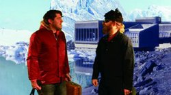 "A still from ""Antarctic...Huh?"" featuring Hoyt (left) and Sherry."