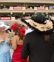 These women were all competing in the various hat contests and socializing throughout the afternoon.
