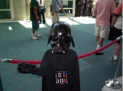 A young Darth Vader at Comic-Con International.