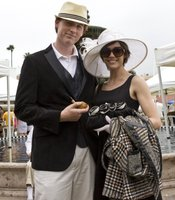 This young couple dressed the part for opening day at Del Mar.