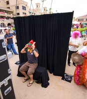 There was a photo booth set up in the Plaza de Mexico for attendees to capture the moment.