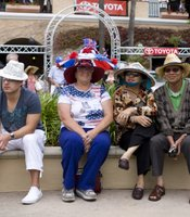 Needless to say, the hat competition drew plenty of spectators.