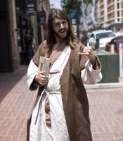 """During Comic-Con, it's not unusual to run into a """"hang ten"""" Jesus in downtown San Diego."""