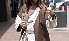 "During Comic-Con, it's not unusual to run into a ""hang ten"" Jesus in downtown San Diego."