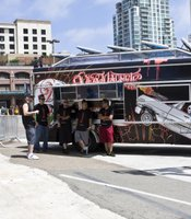 """An outdoor screening of the new Robert Rodriguez film """"Machete"""" takes place Thursday evening. Rodriguez will be serving tacos from this truck."""