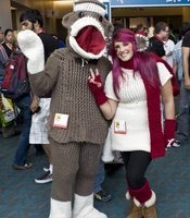 This was my favorite costume of the day - a giant sock monkey!