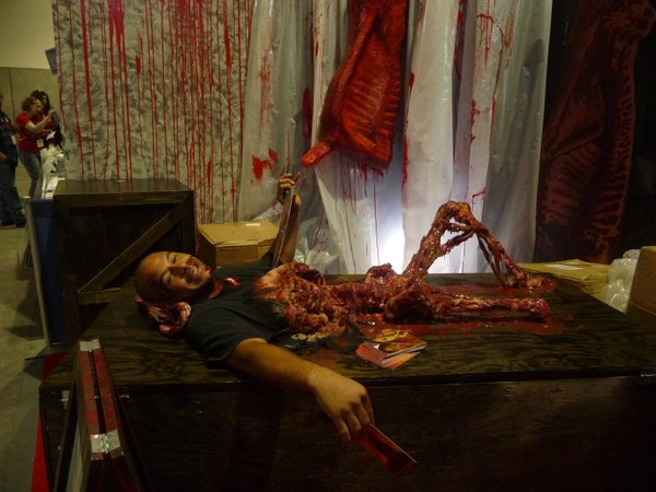 The Blood Factory photo op.