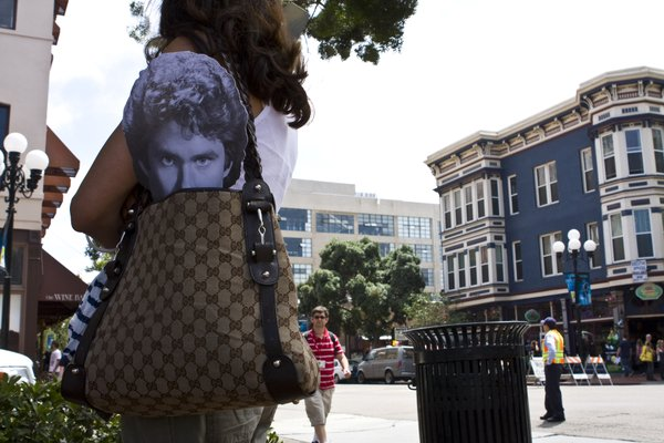 Promoters handed out David Hasselhoff masks in downtown San Diego to advertise a new reality show from A&E.