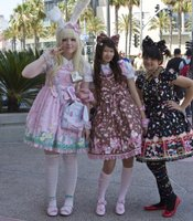 Courtney Riley, Christine Ta, and Sara Breuer were the first Lolitas to arrive at the meet-up this year.