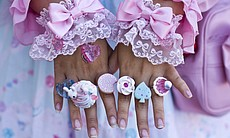 The accessories are very important to the Lolita style. Fads and trends come and go within Lolita and young women keep up with the trends through online forums and journals.