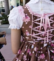 A detail from a Sweet Lolita dress worn by Christine Ta at Comic-Con.