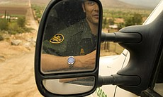 U.S. Border Patrol agents have seen a decrease in illegal crossing attempts in the past two years. This agent believes the decrease stems from the economic recession.