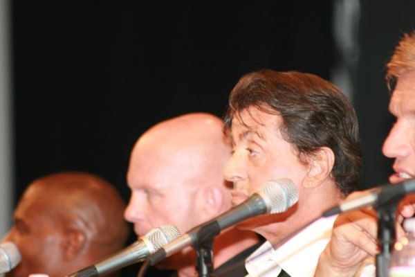 "Sylvester Stallone led the high testosterone panel for ""The Expendables"""