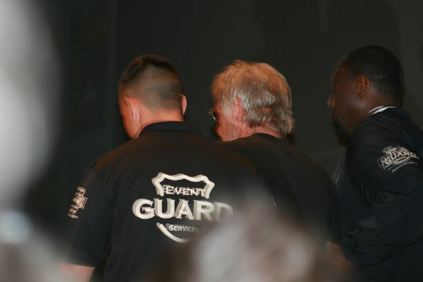 Harrison Ford was brought on stage in cuffs by security guards.