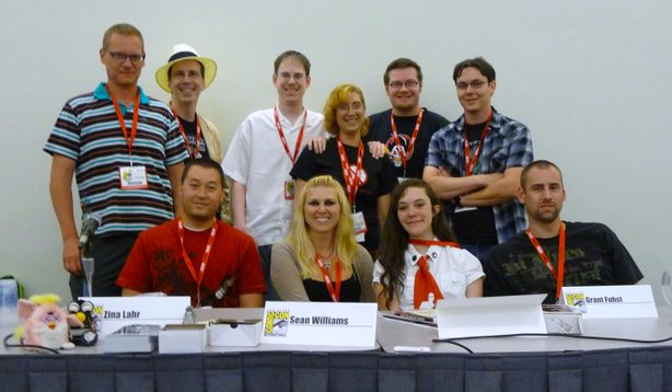 "Me and the artists of ""Night of the Living Dead Reanimated."""