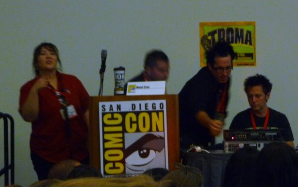 Tech problems at Troma. Even my photo came out blurry. But it was just such an appropriate snafu.