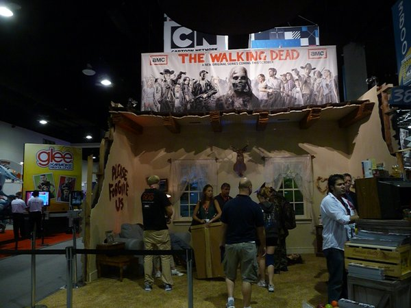 """The Walking Dead"" booth where you could undead yourself or snap a pic in the zombie living room. Pretty undead cool."