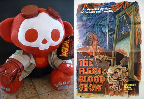 Hellboy Skelanimal and my cool b-horror poster.