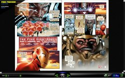 """The Invincible Iron Man"" and other digital comics are available online for free viewing."