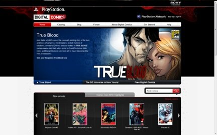 Playstation expands PSP entertainment value with new digital comics like True Blood based on the popular TV series