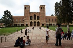 Students seen on the campus at University of California, Los Angeles (UCLA) o...