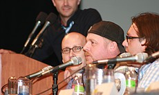 "Simon Pegg and Nick Frost star in and co-wrote ""Paul."" (Photo by: Tony Weidinger)"