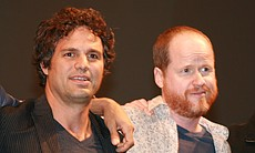 Mark Ruffalo (The Hulk) and director Joss Whedon at the Marvel panel Saturday night at Comic-Con 2010. (Photo by: Tony Weidinger)