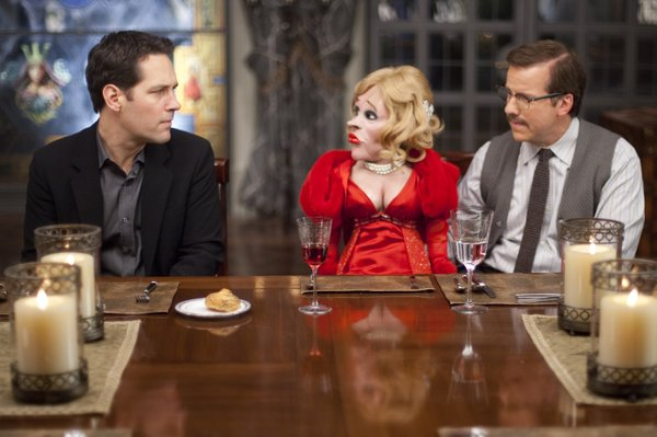 "Paul Rudd contemplates the idiots in ""Dinner for Schmucks."""