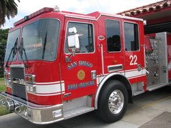 This undated photo shows a San Diego Fire-Rescue Department truck.