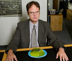 "Rainn Wilson as Dwight in the hit NBC sitcom, ""The Office."""