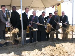 Scripps Health officials broke ground on a new proton therapy cancer center on Aug. 5, 2010.