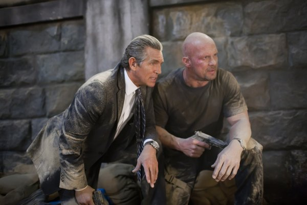 "Eric Roberts and Steve Austin are the baddies in ""The Expendables"""